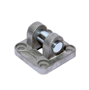 sopra-pneumatic.com - Chape femelle étroite DIN - AB6 pour vérin compact VI Aluminium ou Inox
