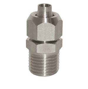 sopra-pneumatic.com - Union simple mâle Type de raccord : cylindrique Diamètre ext. tube : 6 - 8 - 10 - 12 mm Raccord : 1/8 - 1/4 - 3/8 - 1/2