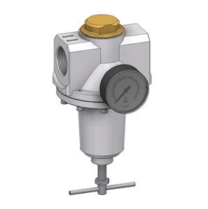 sopra-pneumatic.com - Débit : G1.1/4-G1.1/2 = 16500 l/min Pression d'entrée : maxi. 25 bar Température du fluide : 0°C à +60°C Livré avec manomètre