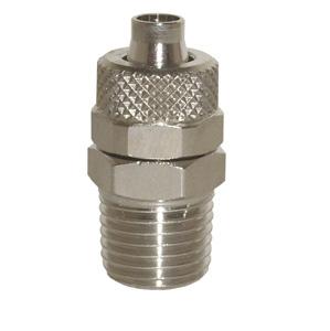 sopra-pneumatic.com - Union simple mâle Type de raccord : conique Diamètre ext. tube : 4 - 6 - 8 - 10 - 12 - 15 mm Raccord : 1/8 - 1/4 - 3/8 - 1/2