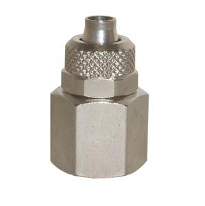 sopra-pneumatic.com - Union simple femelle Diamètre ext. tube : 4 - 6 - 8 - 10 - 12 mm Raccord : 1/8 - 1/4 - 3/8