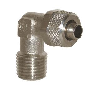 sopra-pneumatic.com - Coude mâle Type de raccord : conique Diamètre ext. tube : 4 - 5 - 6 - 8 - 10 - 12 - 15 mm Raccord : M5 - 18 - 14 - 38 - 12