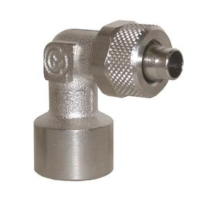 sopra-pneumatic.com - Coude femelle Diamètre ext. tube : 5 - 6 - 8 - 10 - 12 mm Raccord : M5 - 18 - 14 - 38