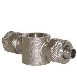 sopra-pneumatic.com - Banjo double Diamètre ext. tube : 4 - 5 - 6 - 8 - 10 - 12 - 15 mm Raccord : M5 - 18 - 14 - 38 - 12