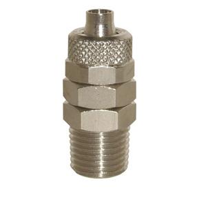 sopra-pneumatic.com - Union simple mâle Type de raccord : conique Orientable Diamètre ext. tube : 4 - 6 - 8 - 10 - 12 mm Raccord : 1/8 - 1/4 - 3/8
