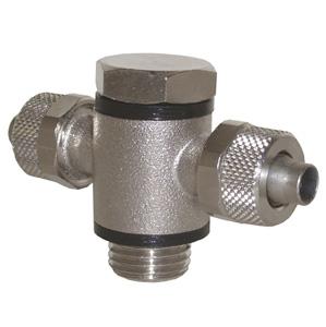 sopra-pneumatic.com - Raccord en T Raccord cylindrique Diamètre ext. tube : 6 - 8 - 10 - 12 - 15 mm Raccord : M5 - 1/8 - 1/4 - 3/8 - 1/2
