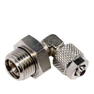 sopra-pneumatic.com - Raccord coudé Orientable Raccord cylindrique avec joint torique Diamètre ext. tube : 6 - 8 - 10 - 12 mm Raccord : 1/8 - 1/4 - 3/8