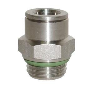 sopra-pneumatic.com - Union simple mâle Type de raccord : cylindrique Diamètre ext. tube : 4 - 6 - 8 - 10 - 12 mm Raccord : M5 - 1/8 - 1/4 - 3/8 - 1/2