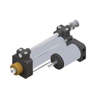 sopra-pneumatic.com - Régulation tige sortie - Régulation tige rentrée - Double régulation Diamètre : 40 mm Course : 50 à 500 mm Magnétique en standard