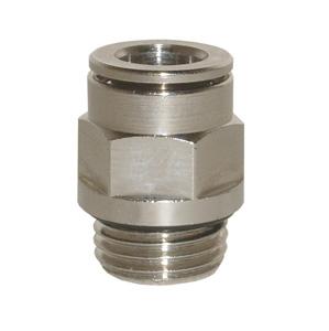 sopra-pneumatic.com - Union simple Type de raccord : cylindrique Diamètre ext. tube : 4 - 6 - 8 - 10 mm Raccord : M5 - 1/8 - 1/4 - 3/8