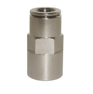sopra-pneumatic.com - Union simple femelle Diamètre ext. tube : 4 - 6 - 8 mm Raccord : 1/8 - 1/4 - 3/8