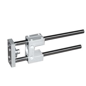 sopra-pneumatic.com - Montage sur vérins ISO 15552 & ISO 6432 Diamètre : 12 à 100 mm Course maxi. 600 mm Guidage par bague en bronze fritté